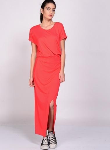 Limon Company Uzun Yırtmaçlı Elbise Kırmızı